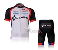 2012 New  White ! CUBE Short Sleeve Cycling Jersey +  Shorts