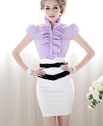 women's short sleeve dress blouses « Bella Forte Glass Studio