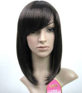 Most best-selling black medium length straight wig(China (Mainland))