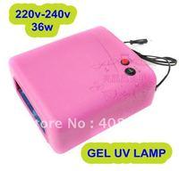 free shipping professional  Gel UV  Lamp Nail  Dryer pink 4 Light Bulb EU Plug(220-240V) FOR nail salon