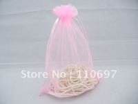 FREE SHIPPING Wholesale LARGE 23*17cm PINK PLAIN ORGANZA Jewelry Gift Bags Bulk 7*9 inch Wedding Favours Pouches