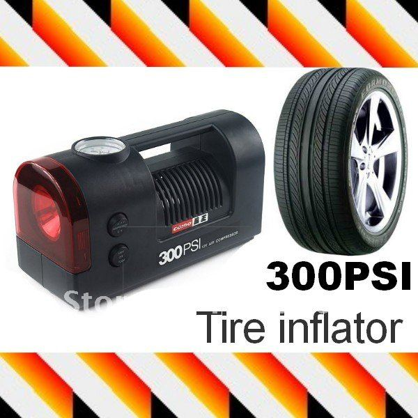12V 300PSI Car Auto Vehicle Tire/Tyre inflator Emergency Electric Pump Mini Car Air Compressor(Hong Kong)