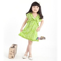 Free shipping!!Factory Direct! HOT SELLING! TOP QUALITY! Children's clothing fashion baby girls short-sleeved lace dress0170