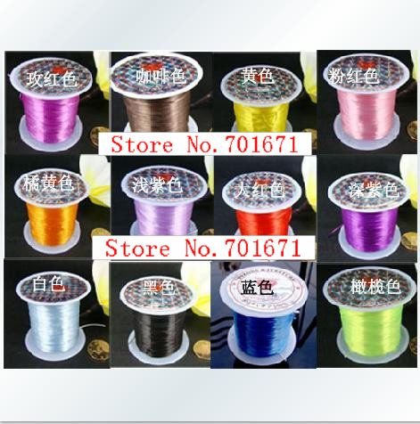 Steel Wire, Beading Wire, Nyllon Coated Stainless Steel Wire, 10PCS/LOT, Jewelry Findings Cord / Wire. Without Elastic.m014