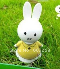 Cute Solar Powered Moving Smile Sunny Doll Toy - White