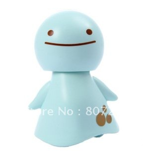 Cute Solar Powered Moving Smile Sunny Doll Toy - Blue