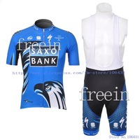 Hot Sale! 2012 New Arrival Saxo bank Short Sleeve Cycling Jerseys and BIB Shorts Set/Cycling Wear -12S11