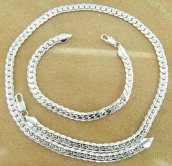 Free Shipping Silver Plated jewelry sets Bracelet Bangle Necklace Earring Ring # store/609871 dgga lxna uowa GY-PT005(China (Mainland))