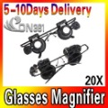 Watch Repair Magnifier Loupe 20X Glasses With LED Light  Glass Magnifying Eye Glasses Loupe Lens Jeweler Watch Repair