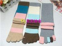 Newst style/ five toe sock, 5pairs/lot Men's soccer long Toe socks high quality
