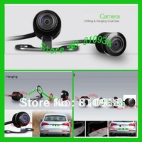 Mini car camera rear view camera with wide viewing angle waterproof high definition  for One camera-Two faces Fix front & back