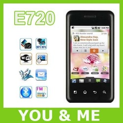 Free shipping original E720 Optimus Chic E720 TouchScreen Android GPS WIFI 5MP Unlocked Cell Phone(China (Mainland))