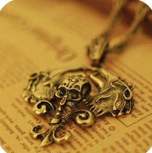 2012 Free Shipping 5pcs/lot skeleton Necklace Pendant Necklace Vintage Nacklace
