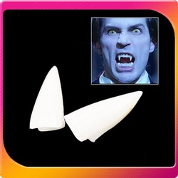 Free shipping 50PCS/LOT False Fancy Dress Halloween Dracula Vampire Teeth Bite Fangs(1pcs/4 teeth)(China (Mainland))