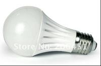 Ceramic Body LED light Bulb 5W 3528 SMD Warm White  White E27 Light Bulb Milky Cover LED Lamp 5W E27 LED Bulb
