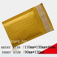 free shipping Kraft Bubble Mailers Padded Envelopes Bags 110*130mm 200pcs/lot