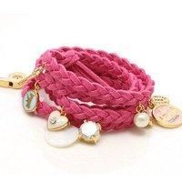 free shipping! fashion rabbits love  strawberry crown shell pearl bracelet bangle,wholesale!