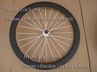 one piece 50mm clincher rear carbon wheels,basalt braking surface carbon bike wheels