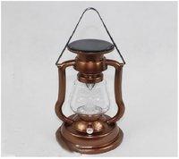 Antique Copper Finish Solar Panel Lantern Camp Lamp Light New