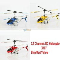 Free Shipping New GYRO 3.5CH RC Helicopter X107 Metal Frame Mini Helocopter - 14001714