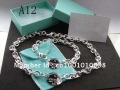 Fashion Jewelry Hot Fashion 925 Sterling Silver Necklace and Bracelet Set  in store (10pcs/lot)