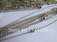 Antique silver jewelry findings 2mm 20inch link chain necklace for pendant