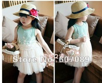 free shipping 2013 new arrival  kid girl  dresses cheap price high  quality 2 to 6 year old  kid dress