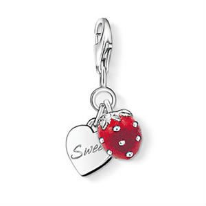 New Arrival ! Wholesale Free shipping 925 sterling silver pendant / lovely / 925 silver sweet strawberry pendant charm LP 496