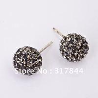 Fashion shamballa stud earrings