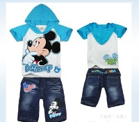 2012 children's/kid/kids/girls  Summer  clothes/clothing t shirt shirts t-shirt t-shirts +pants 2 pcs set  WJX  AL0707