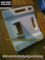 hingh   polising  for  transparent  material