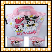 Free Shipping Melody Cartoon Anime Lunchbag Carry Tote Bag Handbags