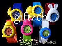 Wholesales, 150pcs/lot, Animal Silicone Slap On Watch, Best Christmas Xmas Gifts for Children, Kids, Students