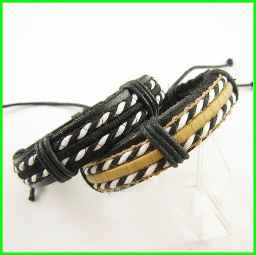 Free Shipping bracelet 2012 Spring&Summer new handmade bracelet leather wristband bangle wholesale price