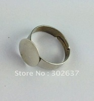 60PCS Adjustable Ring Base Blank Glue-on 18mm Pad #20775