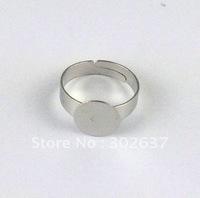 60PCS Adjustable Ring Base Blank Glue-on 10mm Pad #20777