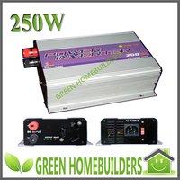 250W Solar Grid Tie Power DC/AC Inverter,optional DC input range 10.8V-30V/14-28V/22-60V,Low cost and easy installation