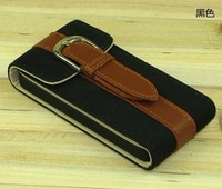 rotate 360 degree genuine leather case for iphone 4S /4G free shipping