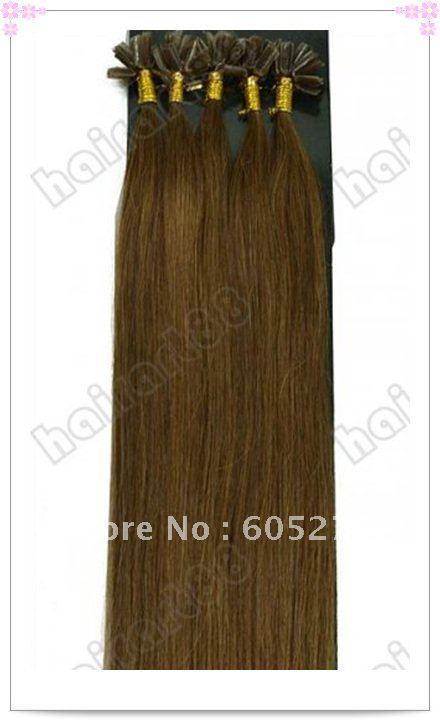 06 1.0g/s Pre Keratin Nail-Tipped Human Hair Extensions Free Shipping
