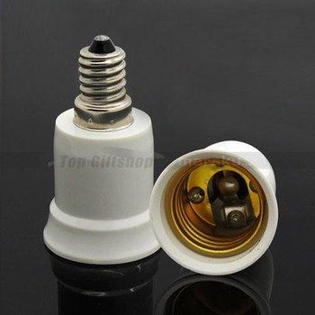 E14 to E27 Extend Base Socket LED Halogen CFL Light Bulb Lamp Holder Adapter Converter
