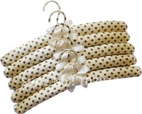 25PCS/LOT 38cm Adult Fabric Closet Hangers Indoor Padded Hanger / Hook covered Fabric +Free Shiping