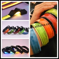 100pcs/lot,led bracelet,fashion flash bracelet party supply,fiber arm wristband,5 colors available,DHL/EMS/UPS free shipping