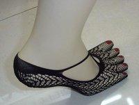 Newst style make cool five toe sock, 5pairs/lot women's five Toe socks free shipping