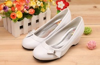SOKOLL Brand!! Environmental Outsole Kids Wedge Shoes Dress Shoes White Spring Footwear