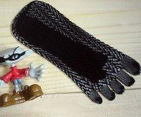 2012 hot sale Make cool five toe sock, 5pairs/lot women's Mesh five Toe socks black
