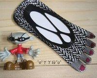 Fashion Make cool five toe sock, 5pairs/lot women's Mesh five Toe socks black