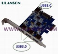 5 off per 50 order PCI-E express card to 4port usb3.0 adapter speed up to 5GB VIA chippset With SATA power