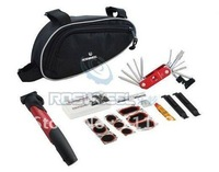 Bicycle tool Cycling Bike repair kits with Bag Pouch Tire Lever Patches Pump