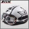 C.10 IBK ABS Half Face Bol Vespa Motorcycle White # Star Helmet , Motorbike Casco , Cycling Casque &amp; Goggles Adults M L XL