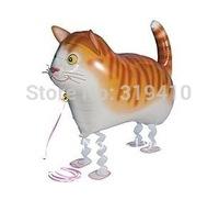 Walking Pet Cat Kitty Helium Balloon Animal Balloons Party toys x 10pcs